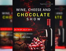 sutapatiwari86 tarafından Design a Flyer for wine,cheese and chocolate show için no 19