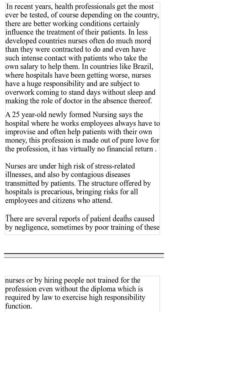Kilpailutyö #1 kilpailussa Write an article about nurses