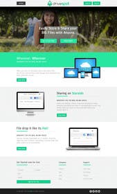 #22 untuk Website Design for a modern file storage service oleh kreativeminds