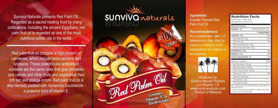 Kilpailutyö #6 kilpailussa Red Palm Oil Label