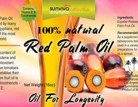 nº 3 pour Red Palm Oil Label par RuxkyStudio