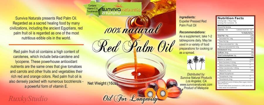 Bài tham dự cuộc thi #                                        4                                      cho                                         Red Palm Oil Label