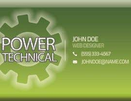 #15 untuk Design some Business Cards for Power technical oleh f0tis