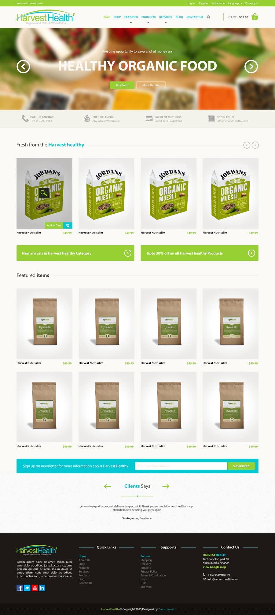 Konkurrenceindlæg #                                        6                                      for                                         Design a Website Mockup for A Health Food Shop