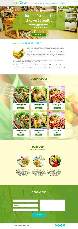 Konkurrenceindlæg #                                        1                                      for                                         Design a Website Mockup for A Health Food Shop