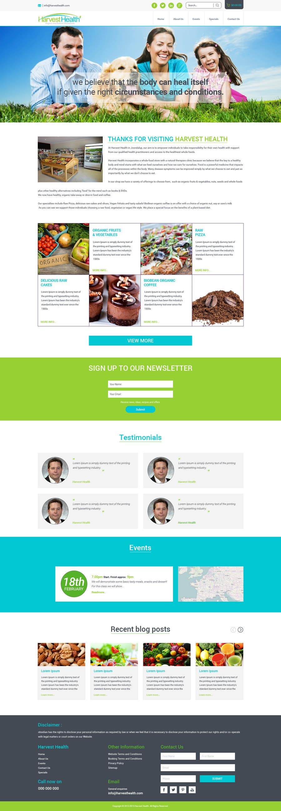 Konkurrenceindlæg #                                        7                                      for                                         Design a Website Mockup for A Health Food Shop