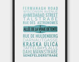 #18 for Clean, simple text based poster for printing: Street names using nice fonts af jazz02