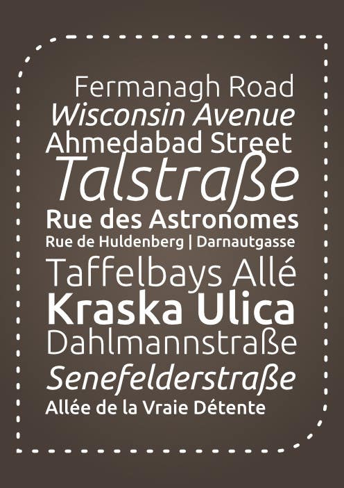 Contest Entry #                                        15                                      for                                         Clean, simple text based poster for printing: Street names using nice fonts