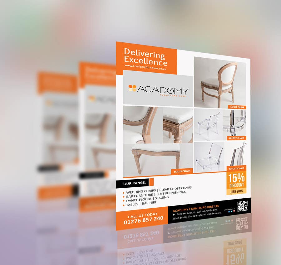 """Konkurrenceindlæg #                                        9                                      for                                         Wedding Show """"Product & Discount Flyer"""" - Academy Furniture Hire"""