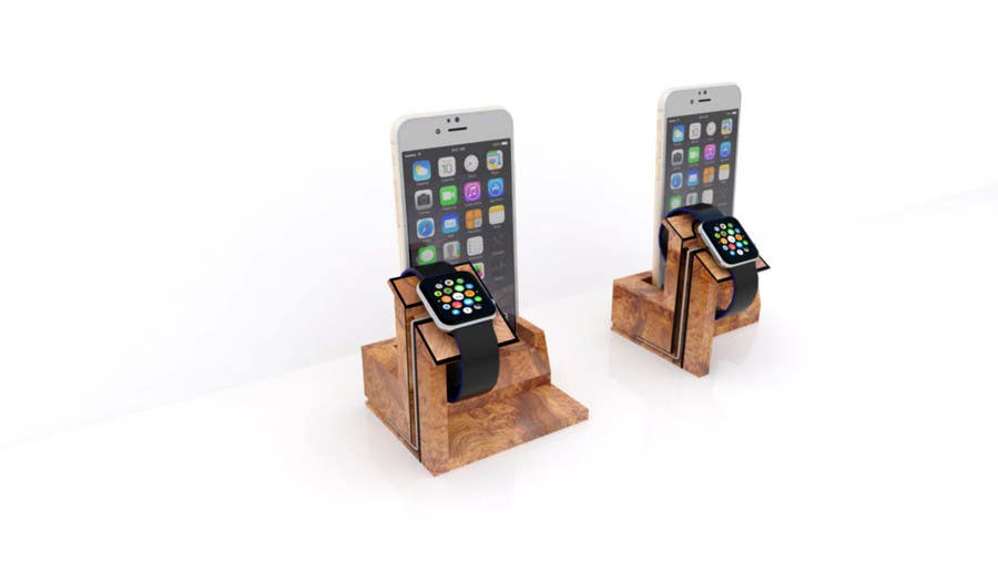 Bài tham dự cuộc thi #15 cho Design and Create a 3d iwatch wooden prototype