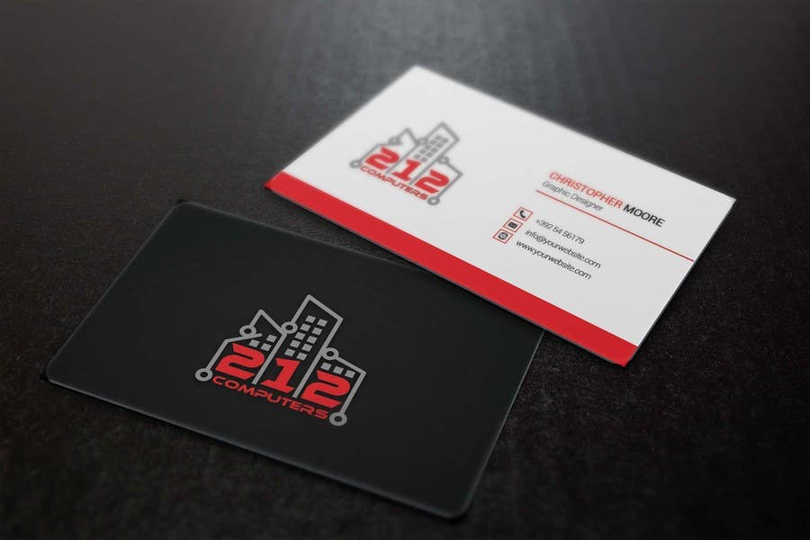 Contest Entry #57 for Design some Business Cards for 212 computers