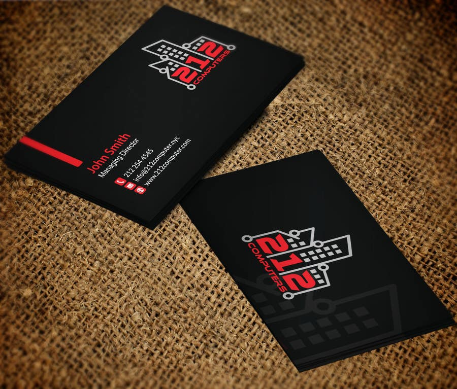Contest Entry #                                        32                                      for                                         Design some Business Cards for 212 computers