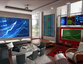 #49 para Design a high tech stock trading room por harshy90