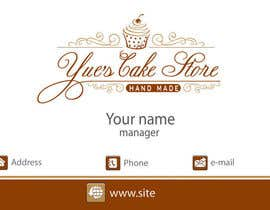 Dada13 tarafından Develop a profile (logo, business card, sticker) for a Cake Store için no 17