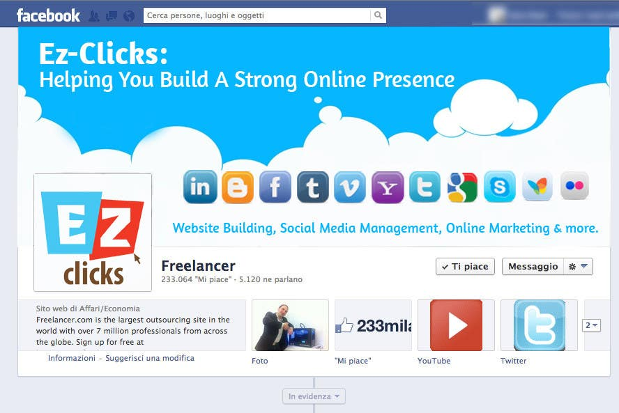 #15 for Design a Cool Banner For Ez-Clicks by holecreative