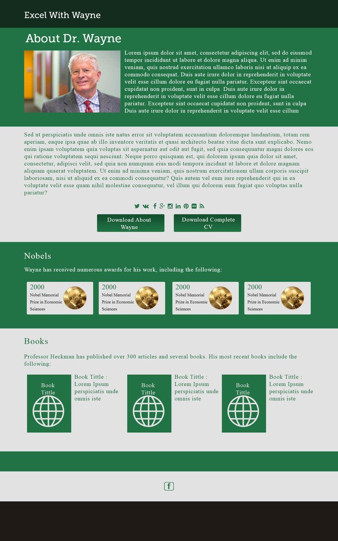Penyertaan Peraduan #2 untuk Design a Website Mockup for a web page 1