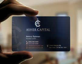 #156 para Design some Business Cards for Asher Capital por aminur33