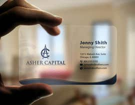 #168 para Design some Business Cards for Asher Capital por imtiazmahmud80
