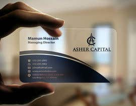 #38 para Design some Business Cards for Asher Capital por mamun313