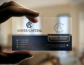 #44 para Design some Business Cards for Asher Capital por mamun313
