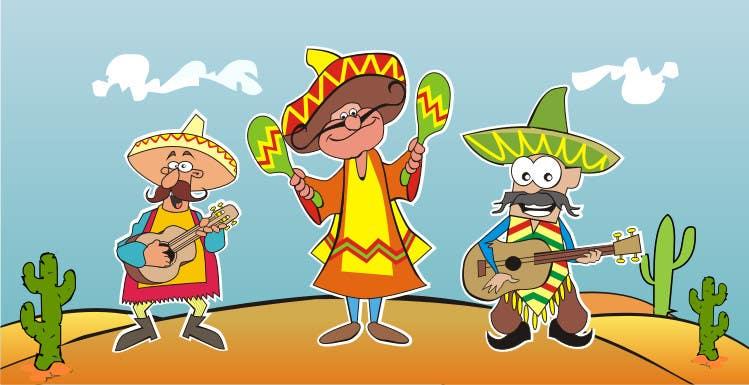 Inscrição nº 9 do Concurso para Illustration of 3 Cartoon Mexican Guys