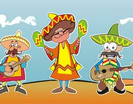 #9 para Illustration of 3 Cartoon Mexican Guys por aarpum18