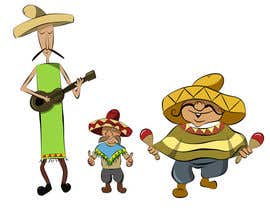 #8 untuk Illustration of 3 Cartoon Mexican Guys oleh ElenaMarseille