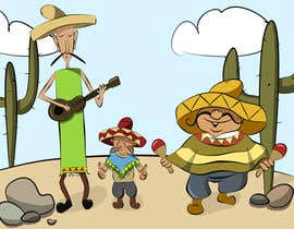 #16 cho Illustration of 3 Cartoon Mexican Guys bởi ElenaMarseille