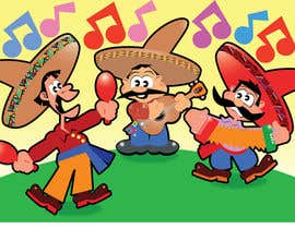 nº 19 pour Illustration of 3 Cartoon Mexican Guys par stanbaker