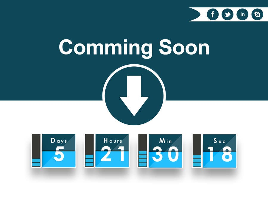Bài tham dự cuộc thi #23 cho Design a Coming Soon page for selling in Themeforest