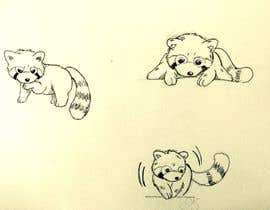 #9 para Draw 3 rough sketches/outlines (can be a picture of pencil on paper) of a Red Panda in fun poses por Pcat007