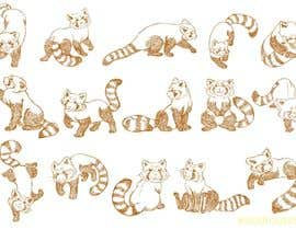 #13 para Draw 3 rough sketches/outlines (can be a picture of pencil on paper) of a Red Panda in fun poses por khoiruunisa