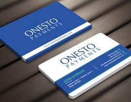 #30 untuk Design business card for Onesto Payments oleh Derard