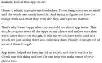 Typography Inscrição do Concurso Nº2 para App Review