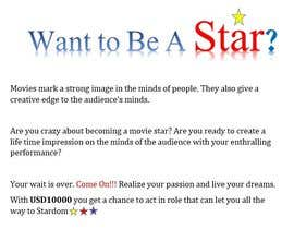 #9 untuk Website name and max. 1 page content for becoming a movie star oleh bharrggaveb