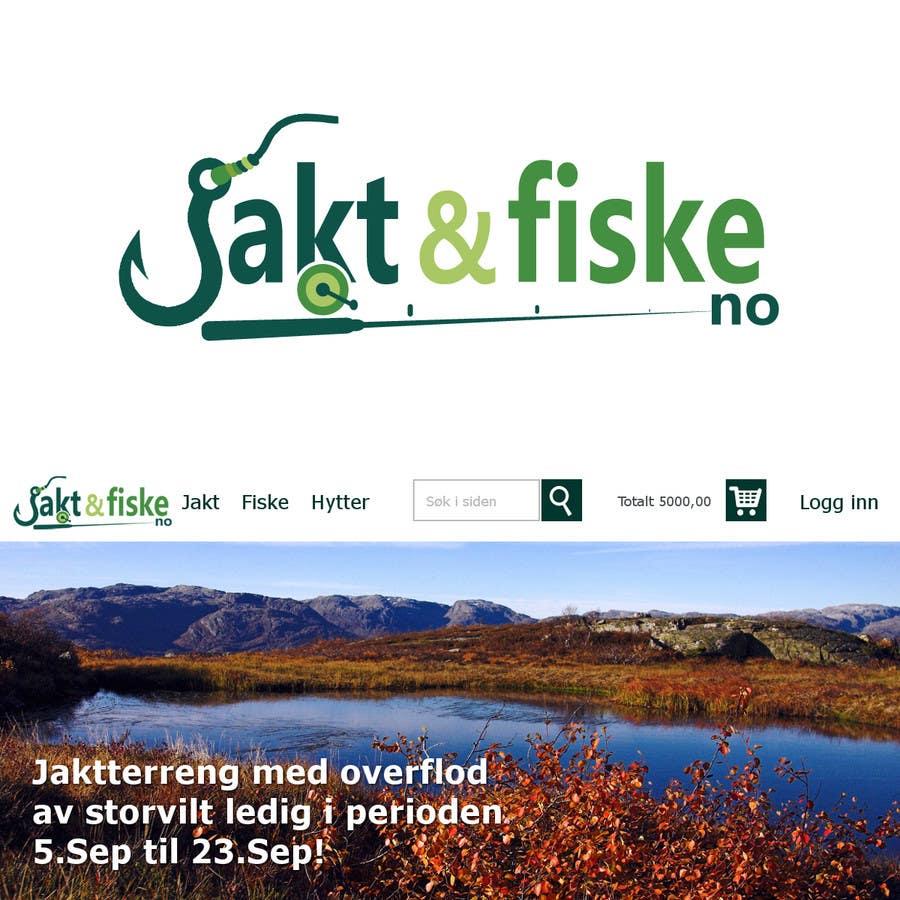 Inscrição nº 71 do Concurso para Design a Logo for jakt-fiske.no