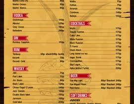 Nro 10 kilpailuun Design a drink menu for a bar käyttäjältä teAmGrafic