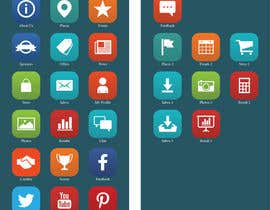 #18 para Design a range of Icons on a skinned background for a sporting app por Rendra5