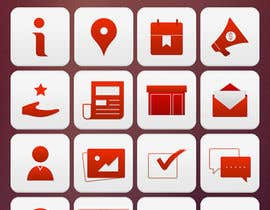 #22 para Design a range of Icons on a skinned background for a sporting app por noninoey
