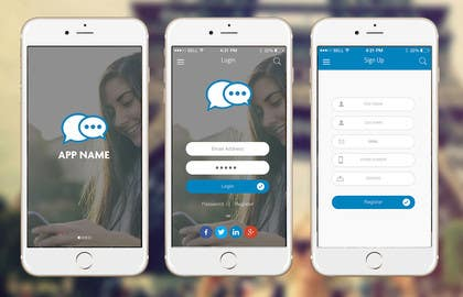 #13 cho Design an App Mockup for chat app bởi ankisethiya