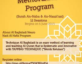 #11 cho Design a Flyer for Al Quran Memorisation Program bởi alromisa