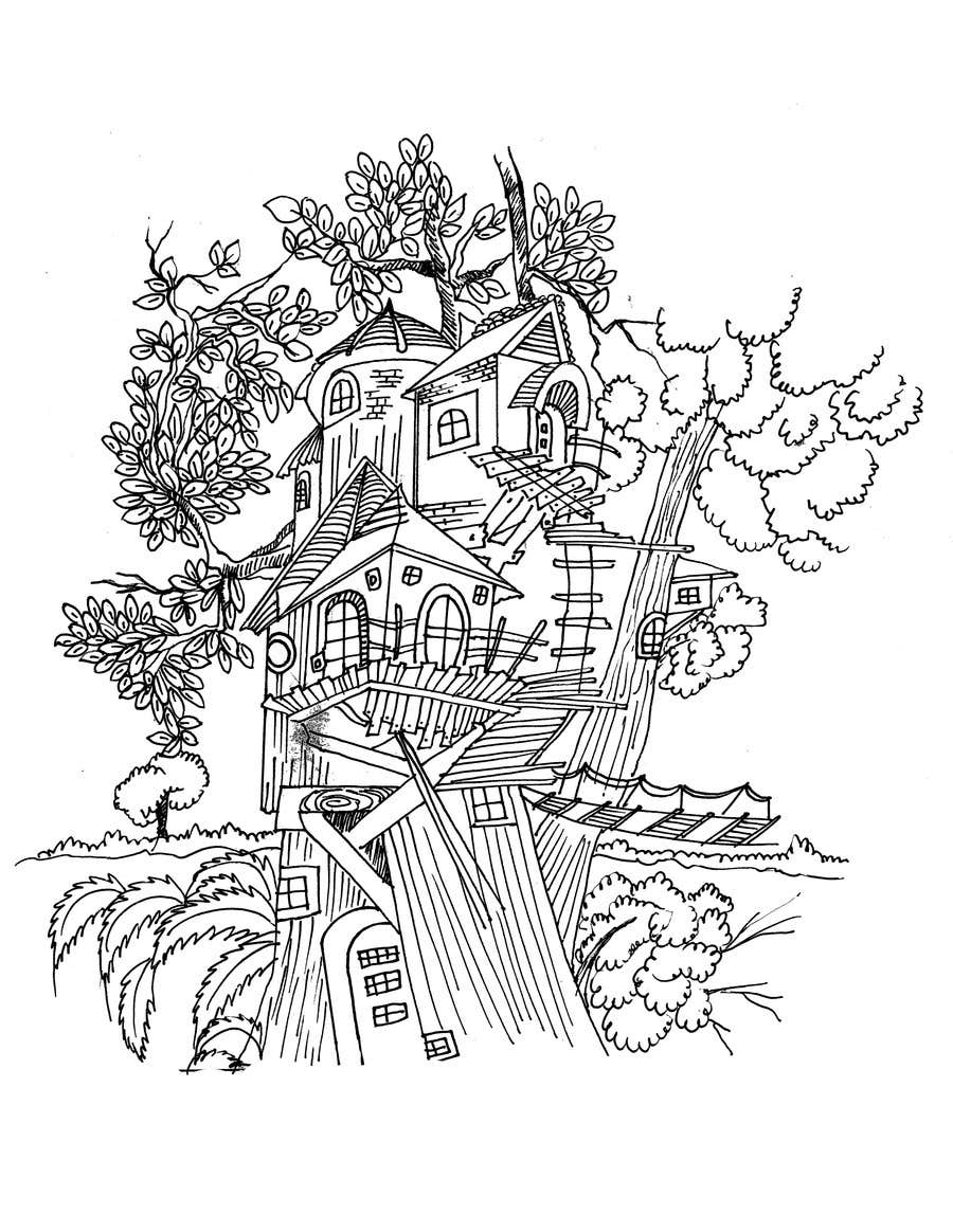 Konkurrenceindlæg #8 for A Coloring Book of Tree Houses