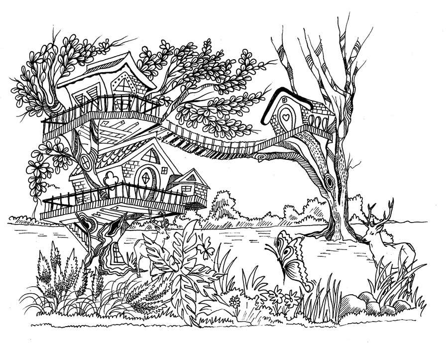 Konkurrenceindlæg #12 for A Coloring Book of Tree Houses