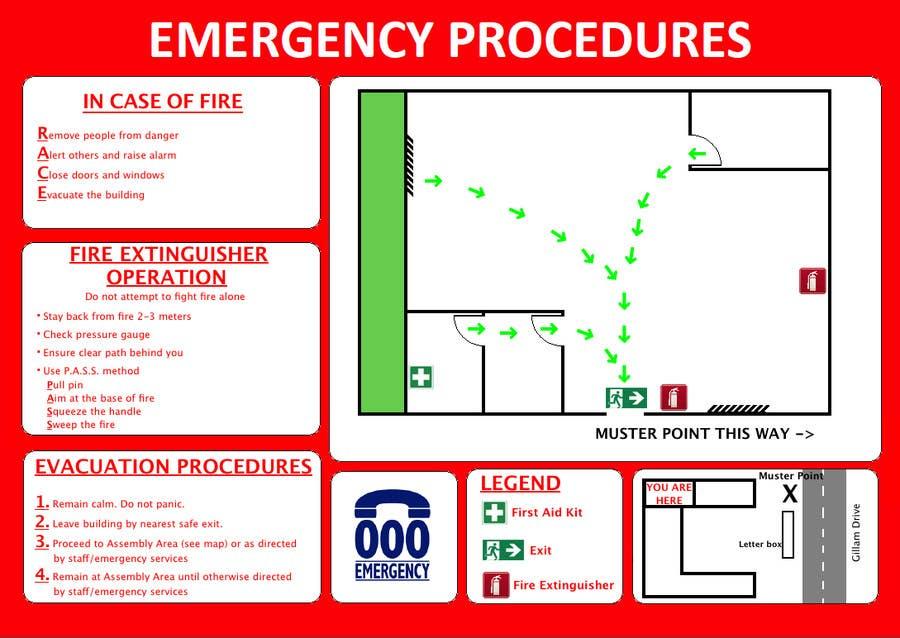Penyertaan Peraduan #1 untuk emergency evacuation procedure