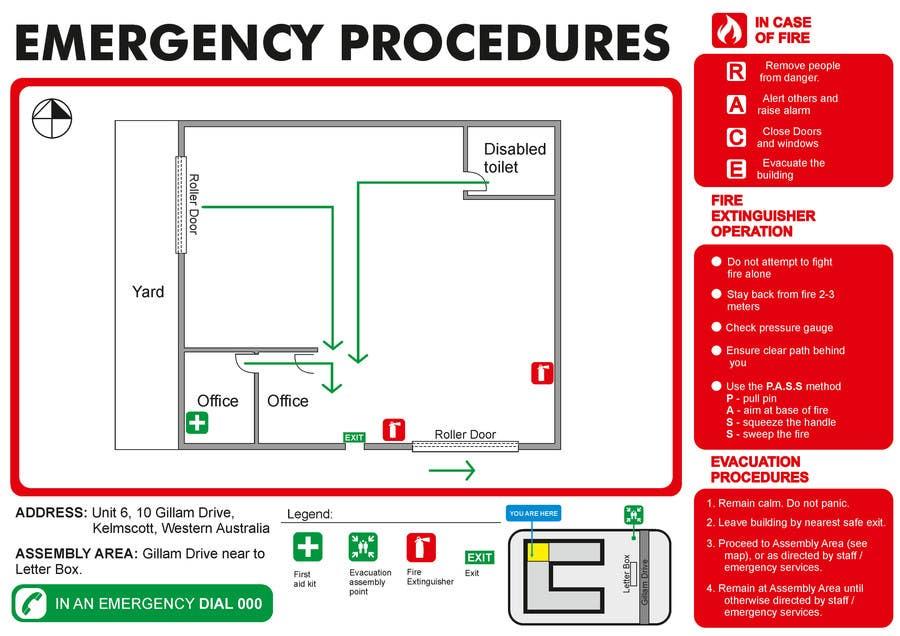 Penyertaan Peraduan #9 untuk emergency evacuation procedure