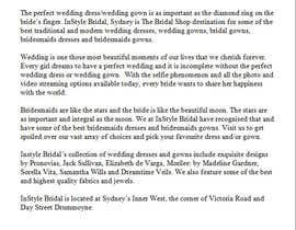#9 for Write some Articles for Our bridal Shop in Sydney by Debi23