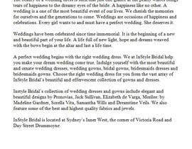 #10 for Write some Articles for Our bridal Shop in Sydney by Debi23