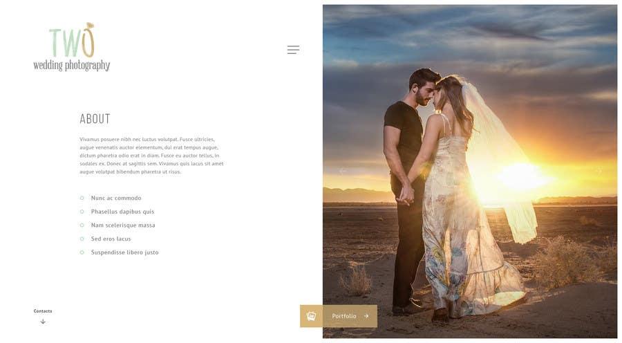 Konkurrenceindlæg #53 for Design a Website for Wedding Photographers