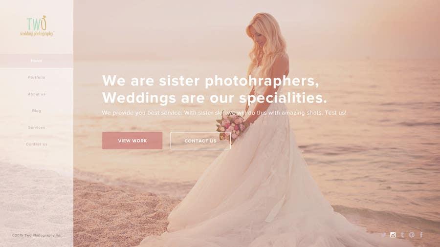 Konkurrenceindlæg #28 for Design a Website for Wedding Photographers