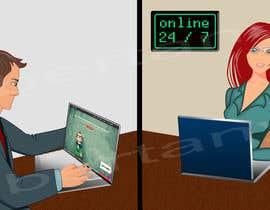 Nro 5 kilpailuun Create an illustration for landing page. käyttäjältä libertany